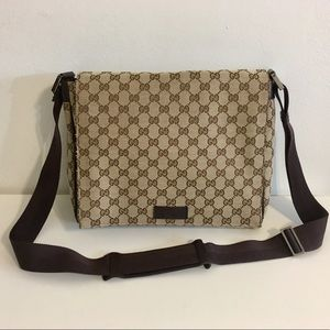 Authentic GUCCI large unisex crossbody bag